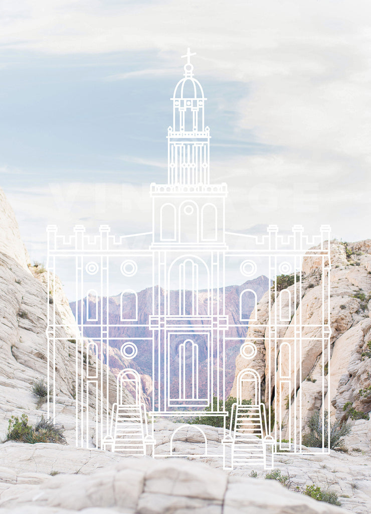 St. George Temple | Snow Canyon Print