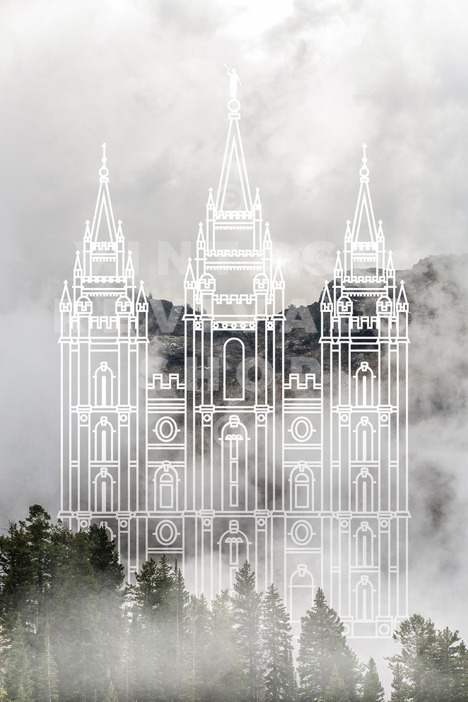 Salt Lake Temple | Big Cottonwood Canyon Print