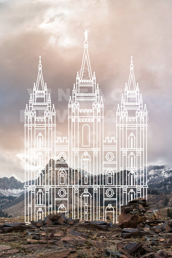 Salt Lake Temple | Wasatch Mountains Print