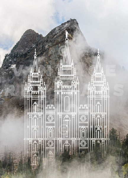 Salt Lake Temple | Lake Blanche Print