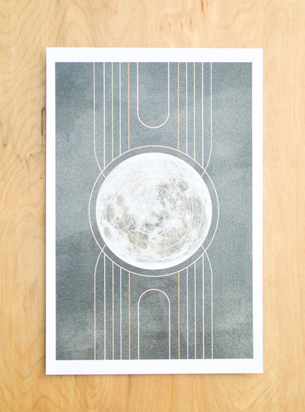 Art Deco Moon Print