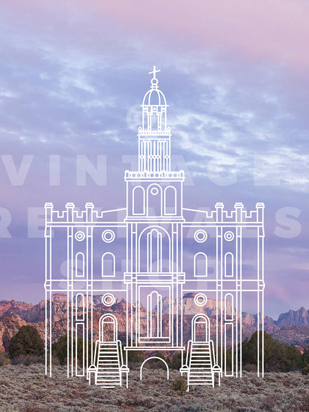 St. George Temple | Zion Sunset Print