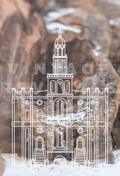 St. George Temple | Zion Snow Print