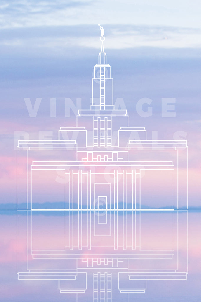 Draper Temple | Bonneville Salt Flats Sunset Print