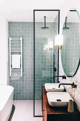 ways to use subway tiles in your toilet