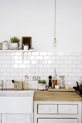 Using white subway tiles at home