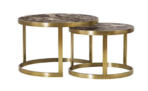 Elko Metal & Marble Round Coffee Table