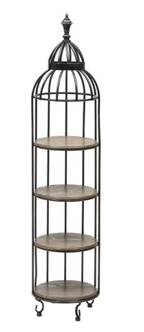 Metal & Ash Birdcage 4-Tier Shelf