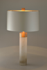 Tall sectional Alabaster Table Lamp