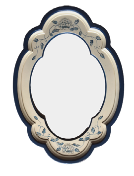 White Rose Antique Mirror