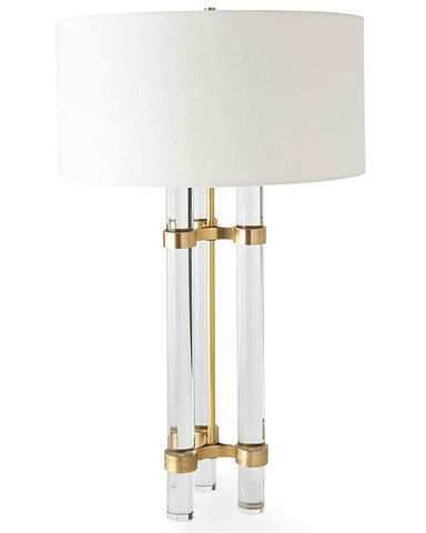 Twin Tower Crystal Table Lamp