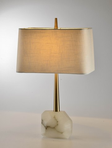 Rock Bottom Alabaster Table Lamp