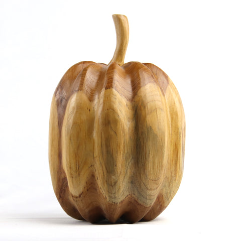 Pumpkin Teak Sculpture