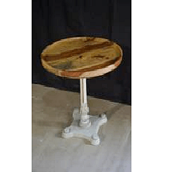 Wooden Iron Side Table