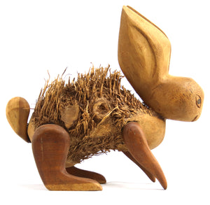 Rabbit Teak Figurine