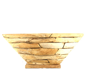 Teak Boat Deco Planter / Fruit Bowl