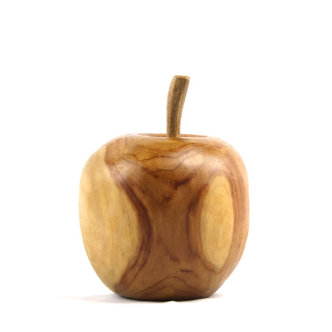 Image of Apple Teak Sculpture
