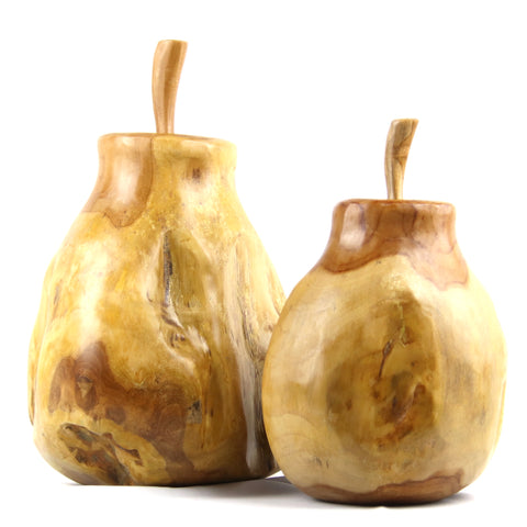 Pear Teak Sculpture