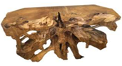 Root Console Teak Table