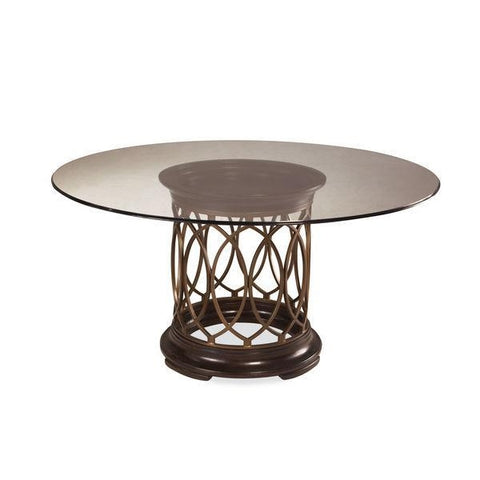 INTRIGUE- GLASS TOP DINING TABLE