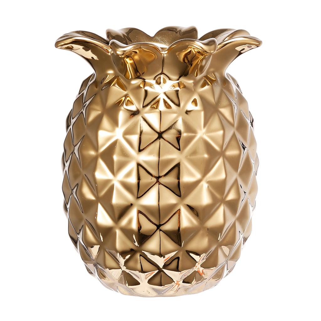 Pineapple Vase, Gold