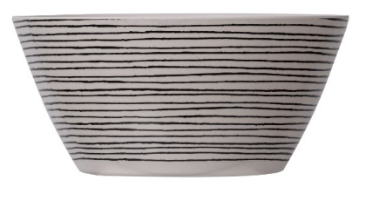 Black And White Bamboo And Melamine Bowl