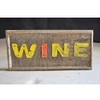 Wooden Iron Wall Panel - Wine