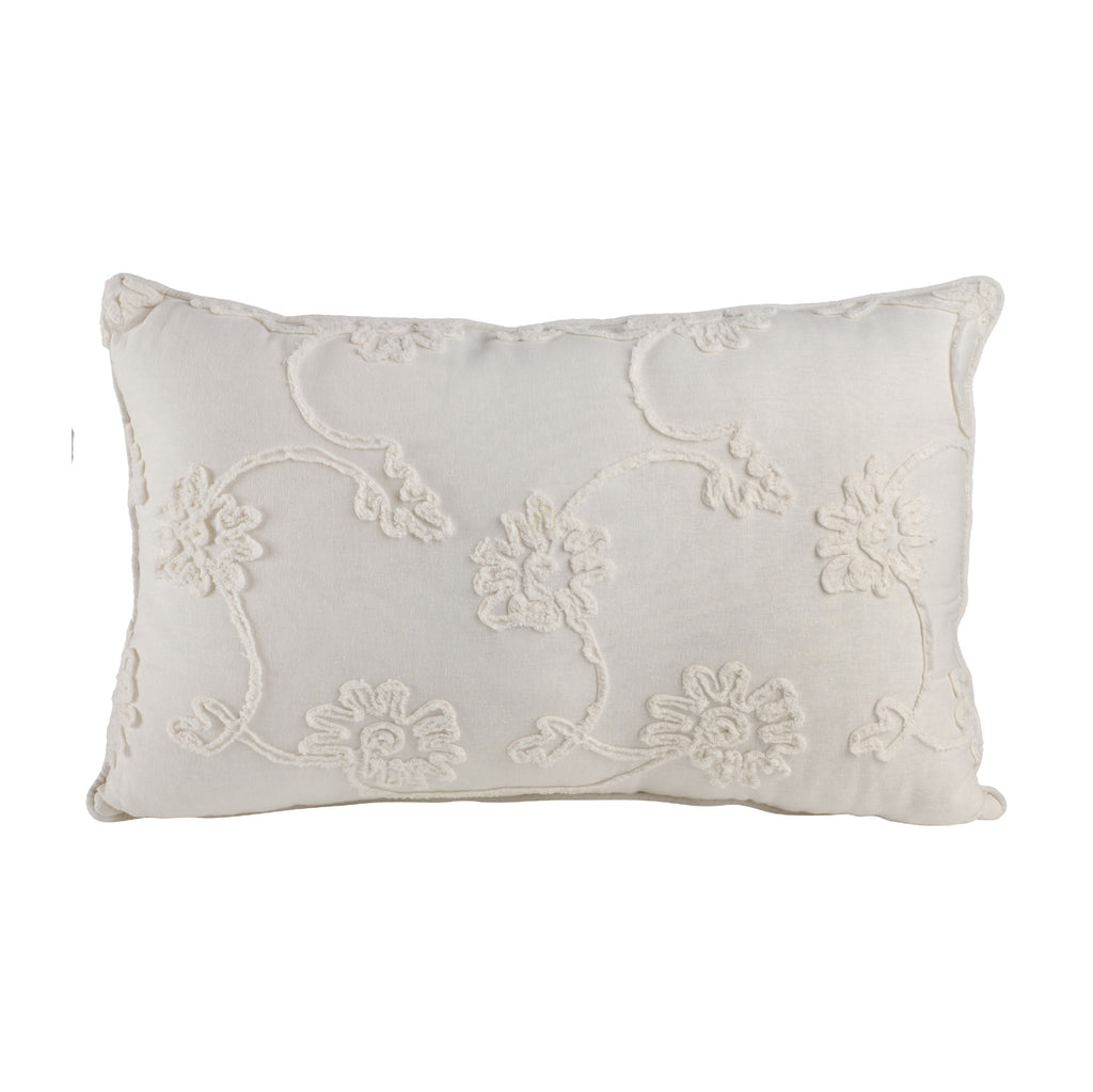 Cushion With Embroidery Flower