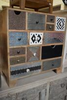 WDN. BRASS & BONE FITTED CHEST OF DRAWERS