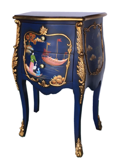 Indigo Rooster Side Table