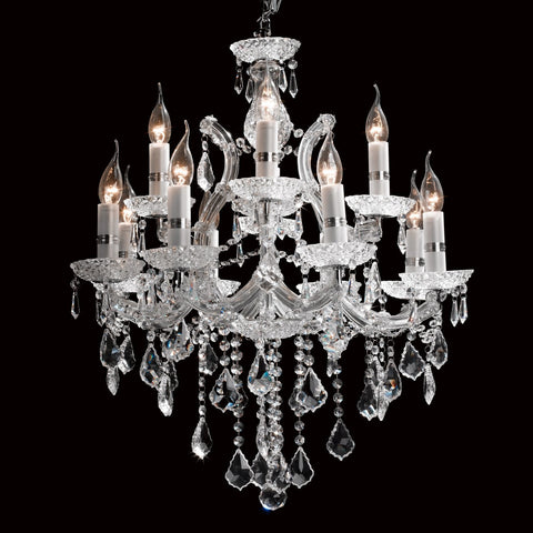 Crystal Chandelier 12 Light - Taylor B. Fine Design Group