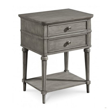 Image of Kirke Leg Nightstand, Smoke - taylorbdesign.com