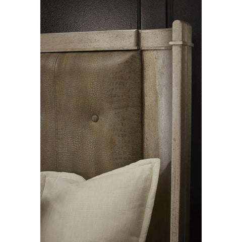 Image of Morrissey - 5/0 Lloyd Upholstered Shelter Queen Bed - Bezel