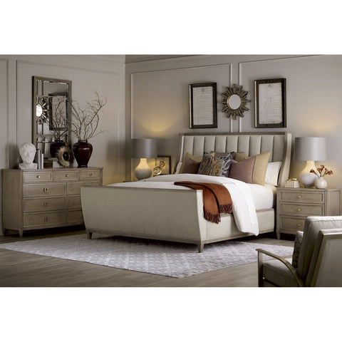 Cityscapes - Chelsea Upholstered Shelter Sleigh Bed US King