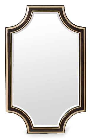 Everly - Bronzed Ebony, Warm Silver Mirror By Caracole (On Sale)