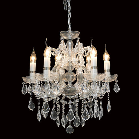Crystal Chandelier 6 Light - Taylor B. Fine Design Group