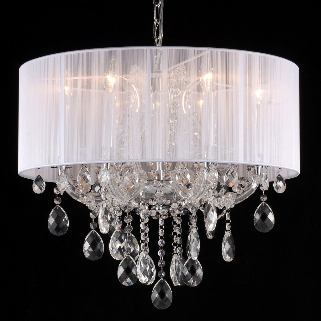 Crystal Chandelier 6 Light With Shade - Taylor B. Fine Design Group