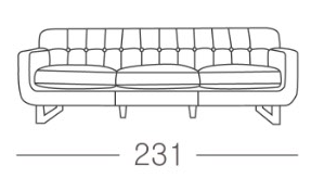 2677 3 Seater and 1 Seater Sofa (ON SALE)