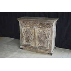 Wooden Carved 2 Door Cabinet