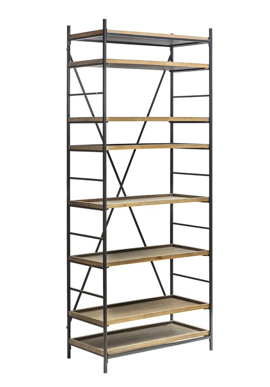 Metal & Fir 8-Tier Shelf w/8 Removable Trays