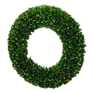 Faux Boxwood Round Wreath