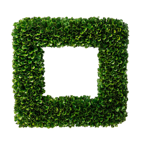 Faux Boxwood Square Wreath
