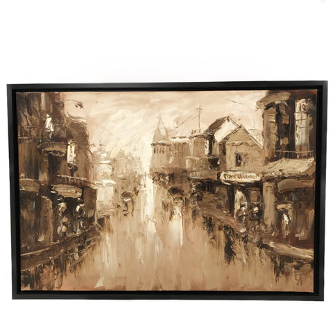 Hand Painted Old Shanghai Oil Painting (2) 101x69.5cm