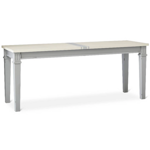 Beekman Dining Bench Grey and White