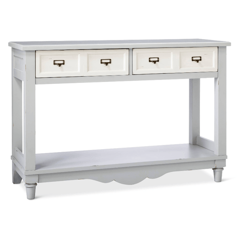 Beekman Console Table Grey and White