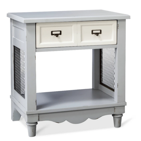 Beekman Side Table Grey and White