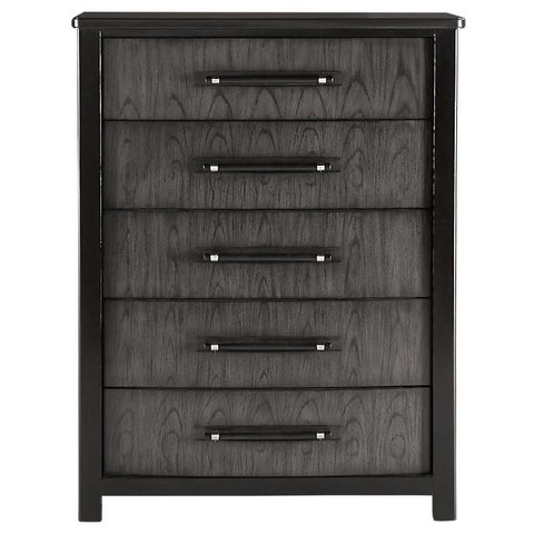 Gramercy Park 5 Drawer Tall Chest Charcoal Finish