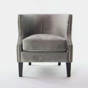 Sloped Arms Accent Chair