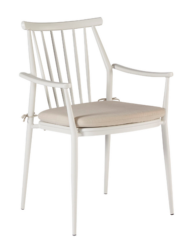 Epicenters Austin Outdoor-Darrow Arm Chair (White) By A.R.T. Furniture