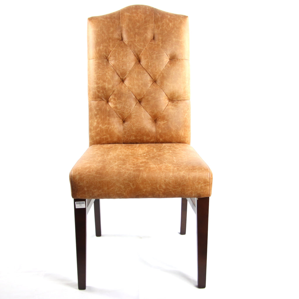 Elegant Tufted Backrest Dining Chair